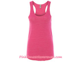 Ladies' Meegs Eco-Jersey Racerback Tank - Eco True Azalea