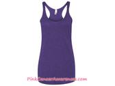 Ladies' Triblend Racerback Tank - Purple