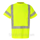 Neon Green Work in safety Short Sleeve T-Shirt
