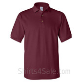 Maroon Cotton polo shirt for men