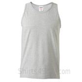 Gray Heavyweight tank top for men
