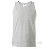 Gray Heavyweight tank top for men