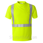 Neon Green High Performance reflective tape T-Shirt