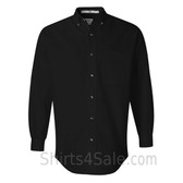 Black Long Sleeve Stain Resistant mens dress shirt