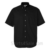 Black Short Sleeve men's Cotton dress shirt