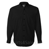 Black Long Sleeve Men's Cotton dress shirt