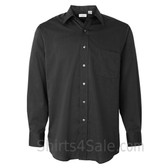 Black Top-fused collar business shirt