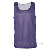 Purple Reversible tank shirt for men