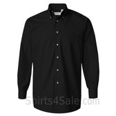 Black Silky Poplin collared shirt