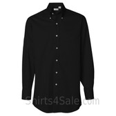 Black Long Sleeve men's fashion Twill dress shirt
