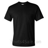 Black Cotton mens t shirt with a Pocket