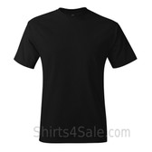 Black Neck tag-free men's t shirt