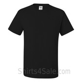 Black Heavyweight durable fabric men's tshirt
