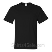 Black Heavyweight durable fabric men's tshirt with a Pocket