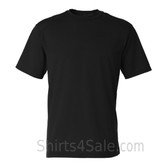 Black Short Sleeve Performance tee shirt for men