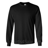 Gildan Ultra Cotton - 100% Cotton Long-Sleeve T-Shirt - Black