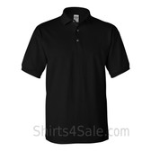 Black Cotton polo shirt for men