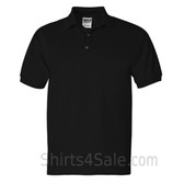 Black Ultra Cotton Jersey men's Sport polo shirt