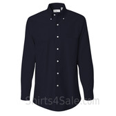 Navy Long Sleeve Oxford dress shirt