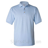 Light Blue Cotton polo shirt for men