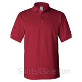 Dark Red Cotton polo shirt for men