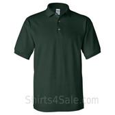Dark Green Cotton polo shirt for men