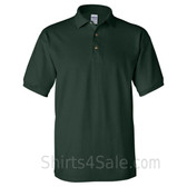 Dark Green Cotton polo shirt for men
