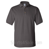 Charcoal Cotton polo shirt for men