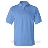 Carolina Blue Cotton polo shirt for men