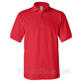 Red Cotton polo shirt for men