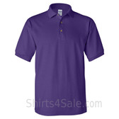 Purple Cotton polo shirt for men