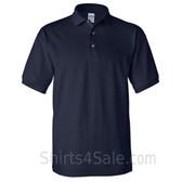 Navy Cotton polo shirt for men