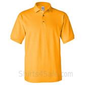 Gold Yellow Cotton polo shirt for men
