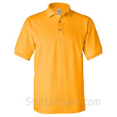 Gold Yellow Cotton polo shirt for men