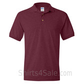 Maroon Dry Blend Jersey mens Sport polo shirt