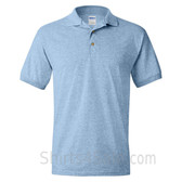Light Blue Dry Blend Jersey mens Sport polo shirt