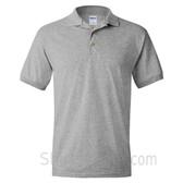 Gray Dry Blend Jersey mens Sport polo shirt