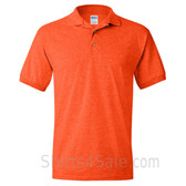 Dark Orange Dry Blend Jersey mens Sport polo shirt
