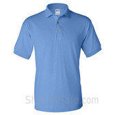 Carolina Blue Dry Blend Jersey mens Sport polo shirt