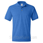 Blue Dry Blend Jersey mens Sport polo shirt