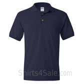 Navy Dry Blend Jersey mens Sport polo shirt