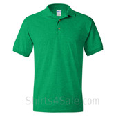 Green Dry Blend Jersey mens Sport polo shirt