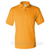 Gold Yellow Dry Blend Jersey mens Sport polo shirt