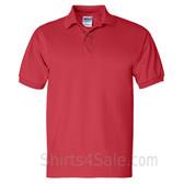Red Ultra Cotton Jersey men's Sport polo shirt