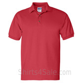 Red Ultra Cotton Jersey men's Sport polo shirt
