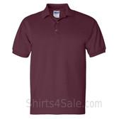 Maroon Ultra Cotton Jersey men's Sport polo shirt