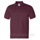 Maroon Ultra Cotton Jersey men's Sport polo shirt