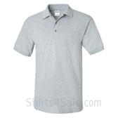 Light Gray Ultra Cotton Jersey men's Sport polo shirt