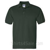 Dark Green Ultra Cotton Jersey men's Sport polo shirt