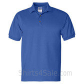 Blue Ultra Cotton Jersey men's Sport polo shirt